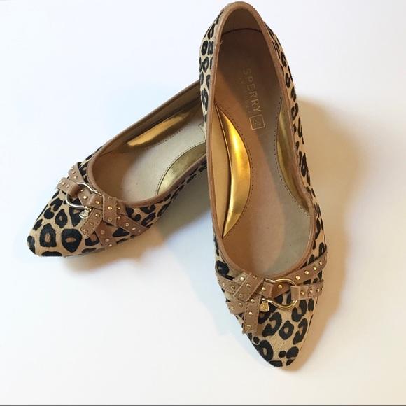 Sperry Topsider Leopard Print Flats